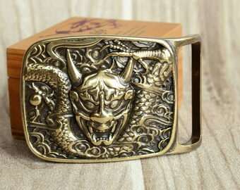 Mens Belt Buckle Solid Brass Belt Buckle Dragon Monster B80326165