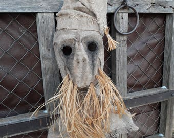 "Mask Scarecrow ""Bearded hat"", horror, halloween, masquerade, free shipping"