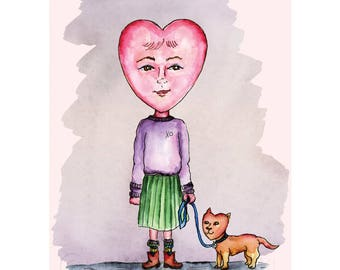 Girl with the Heart-Shaped Face