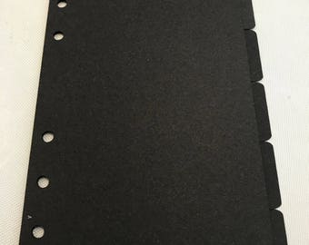 Personal size planner Dividers/Tabs set 6 tabs Filofax/Kikki K/Kate Spade and other planners.