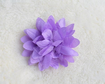 Flower with Tulle Hair Clip