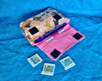 Kitty Cat Pattern 3DS / 3DS XL / New 3DS Carrying Case - MADE to ORDER