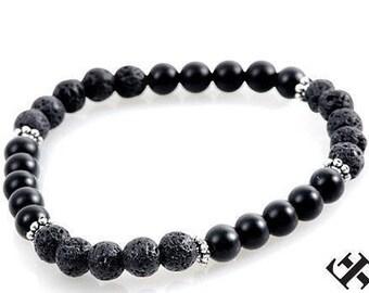 Mens bracelet, mens beaded bracelet, Men's onyx bracelet, mens gift, mens jewelry