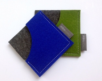 Square Card Case by mlmxoxo.  felt.  business card holder.  unisex.  eco-friendly. card sleeve.  felt business card case.  Free Shipping