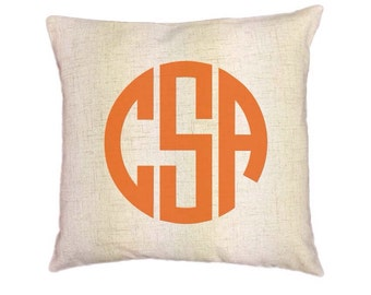 Custom Monogram Pillow Covers (Style: Modern) 43 color options