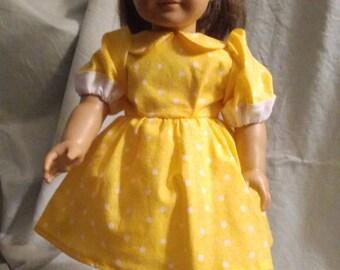 Yellow w/ white polka-dots dress