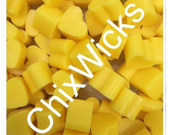 100 Lemon Zest Soy Wax Mini Heart Melts