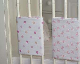 """round bed 6 reversible bumpers """"Flamingo"""""""