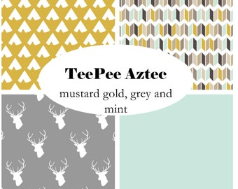 TEEPEEAZTEC-Custom Crib Bedding-3 piece+