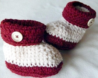 Baby UGGS, Cuff Booties, Baby Boots with Button Top, NON-SKID Option