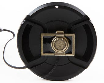 Antiqued Camera Lens Cap Saver Keeper