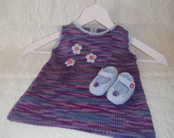 Baby booties and dress set / size 3 months