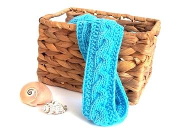 Hair Band. Knit Head Wrap. Headband Hair. Turquoise Headband. Knit Hair Accessory. Hair Accessory.