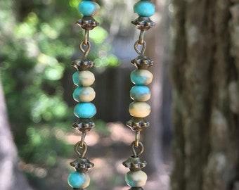 Turquoise Earrings, Boho Jewelry, Bohemian Jewelry, Boho Earrings, Bohemian Earrings, Rustic Earrings, Statement Earrings, for her