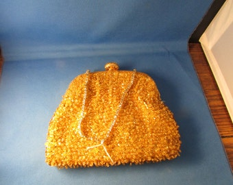Gold Sequin and Beaded Purse