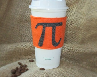 Pi & T-Rex Reversible Cup Cozy **Clearance**