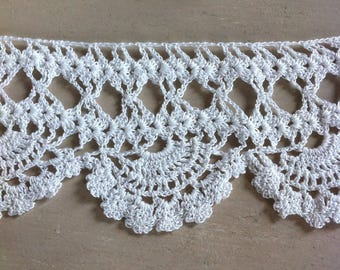 Hand crocheted lace shell crochet