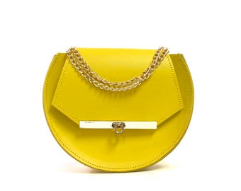Loel Mini Military Bee Crossbody Bag in Ceylon Yellow