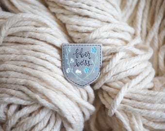 Fiber Boss Pin | Yarn | Knit | Crochet | Weave | Stitch | Sew