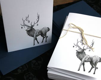 Nightmare Stag Holiday Cards (Pack of 40)