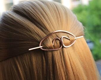 Copper Hair Clip Hair Stick Metal Hair Slide Hair Barrette Minimalist Hair Pin Hammered Hair Jewelry Hair Accessories Women Gift for Her