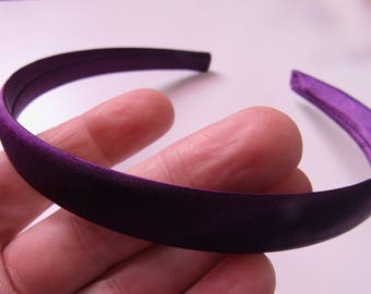various colors satinated headband 13 mm wide