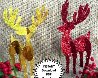 Reindeer Decor Christmas Decoration DIY Christmas Ornaments Reindeer Decor 3D Paper Decor DIY Holiday Craft Christmas Diy Reindeer Antlers