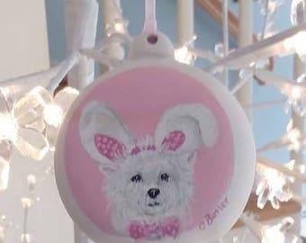 peint à la main personnalisée ornement animaux, ornement de Pâques, ornement de biscuit, ornement de Noël, ornement de chien, ornement de chat, ornement animaux en porcelaine