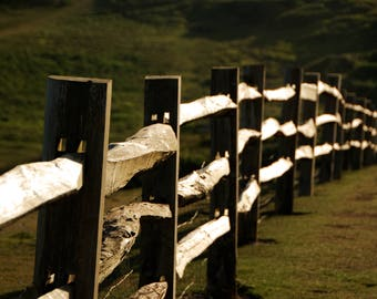 Fence - Sunset - Seaford Head - England - UK - Photo - Print