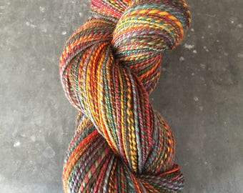"Sport Weight Handspun Yarn ""Sunflower Faces"""