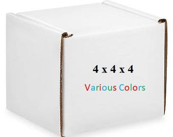 25 – Gloss Boxes 4x4x4 – Mailing Boxes of Various Colors - Cardboard Mailers – Packaging Supplies – Shipping Supplies – Storage Boxes