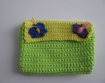 Trousse fleuri en coton