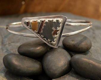 """Sonoran Sunrise cuff bracelet in solid sterling silver.  Can be sized to fit you between 5.5-7"""" wrist"""
