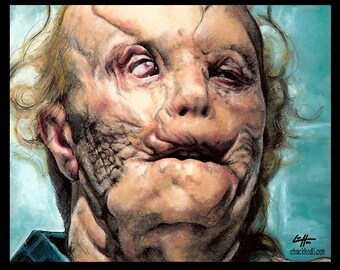 "Print 8x10"" - Mason Verger - Gary Oldman Hannibal Lecter Dark Art Horror Anthony Hopkins Cannibal Serial Killers Pop Art Lowbrow Blood"