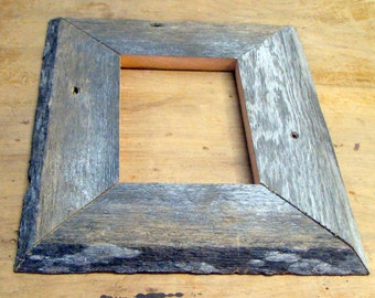 BarnWood Frame 5 x 7, Old Barn Wood, Recycled, RePurposed, UpCycled, Reclaimed, Vintage Farmhouse Wood Frames, Seasoned by Nature!