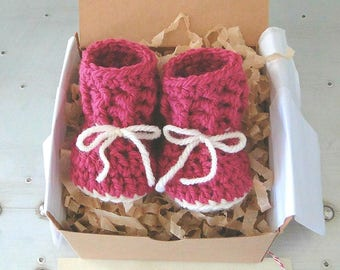 Grandparent Pregnancy Announcement, Baby Announcement, Baby Reveal, BOOTIES IN A BOX® Baby Bootie Reveal, Newborn Baby Booties, Baby Bootys