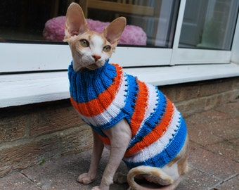 Cat clothes,hand-knitted sweater for small dogs or cats, pets clothing, warm cat sweater, sphynx sweater, clothes for sphynx, kitten clothes