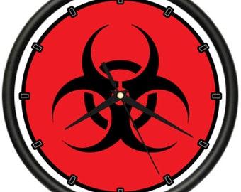 Biohazard Wall Clock Bio Hazard Symbol Tattoo Shop