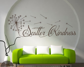 Scatter Kindness Vinyl Wall Decal Sticker