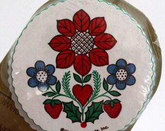 Hallmark Coasters, Dutch Flower Paper Coasters, Retro Flower Coasters, Dutch Design Coaster