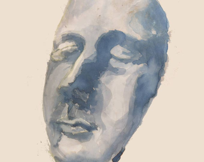 Art Reproduction of Face One, an Ink study