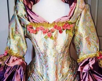 18th Century Dress, Marie Antoinette Costume, 18th Century Closing.