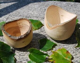 Ciotole in legno con corteccia, Wood Bowl, Portafrutta in legno, Centrotavola in legno, Bowl Wood, Rustic Home Decor, Woodturning