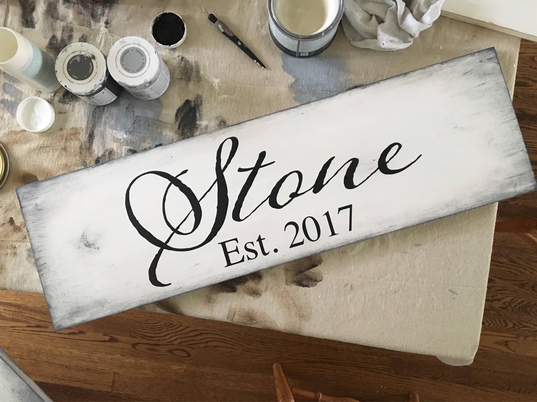 Rustic single plank woode...