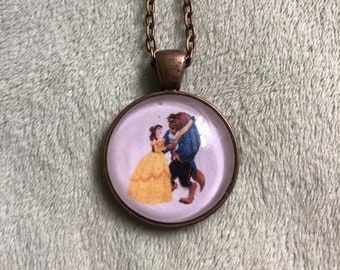 Belle and Beast Pendant Necklace