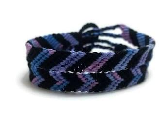 Northern Lights arrow friendship bracelet, striped friendship bracelet, friendship gift, string friendship, chevron friendship