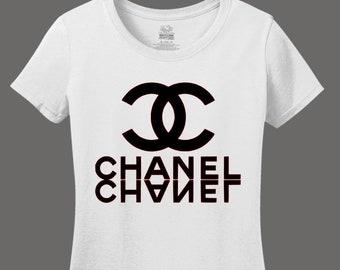 Chanel Fashion T-shirt // Women's Chanel Shirt // Chanel Logo Shirt