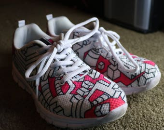 Mens/Womans Running Shoes - Interdimensional Pink