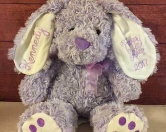 Personalized Easter Bunny -Stuffed Animal-Personalized Bunny Rabbit-Easter Basket gift-Easter Bunny Gift-baby's first easter-birthday gift