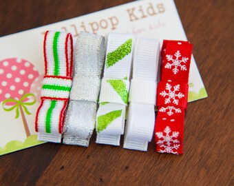 Hair Clips for Baby Baby Hair Clips Kids Hair Clips Christmas Hair Clips Holiday Hair Clips Hair Clips for Fine Hair